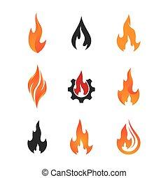 ikon, jelkép, elbocsát, vektor