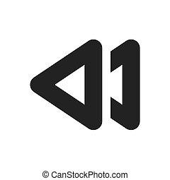 ikon, jelkép, vektor, nyíl, nehézkes