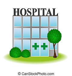 ikon, kórház, vektor