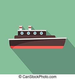 ikon, lakás, hajó, mód, utazás