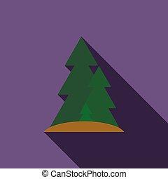 ikon, lakás, mód, erdő