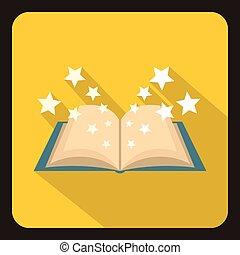 ikon, lakás, mód, könyv, varázslatos