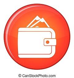 ikon, lakás, mód, pénztárca, pénz