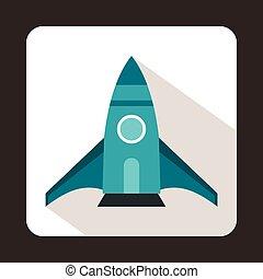 ikon, lakás, mód, rakéta