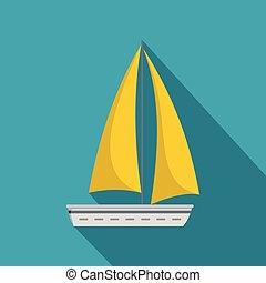 ikon, lakás, utazás, jacht, mód