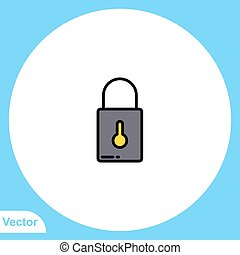 ikon, lakat, jelkép, lakás, vektor, aláír