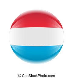 ikon, luxemburg, 10, eps, ball., vektor, forma, lobogó