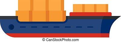 ikon, mód, ipari hajó, lakás