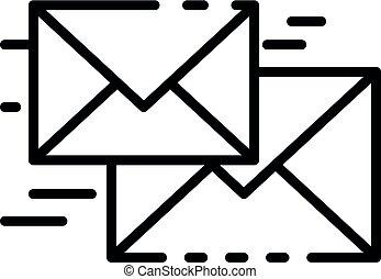 ikon, mód, repülés, áttekintés, levél