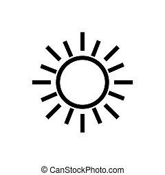 ikon, nap, jelkép