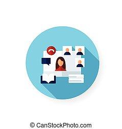 ikon, online, lakás, előjegyez ütő