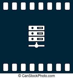 ikon, számítógép, vektor, ábra, ministráns