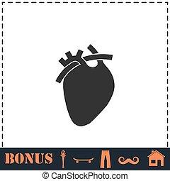 ikon, szív, lakás