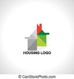 ikon, szürke, színes, épület