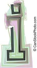 ikon, tervezés, jel, levél, -