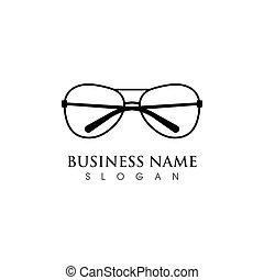 ikon, tervezés, vektor, szemüveg, jelkép