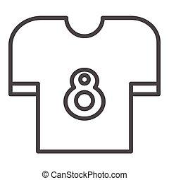 ikon, tervezés, white háttér, elszigetelt, trikó
