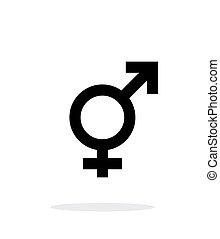 ikon, transgender, háttér., fehér
