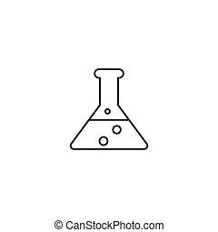ikon, vektor, áttekintés, ábra, kémia