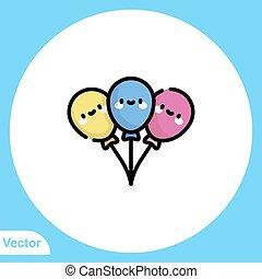 ikon, vektor, balloon, jelkép, aláír