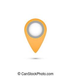 ikon, vektor, elhelyezés, ábra, pointer.