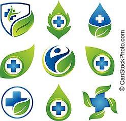 ikon, white háttér, állhatatos, jelkép, tervezés elem, színes, orvosi