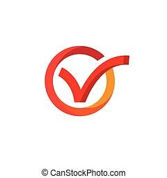 ikonok, ábra, megjelöl, vektor, tervezés, sablon, ellenőriz