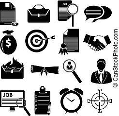 ikonok, állhatatos, alkalmazás