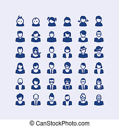 ikonok, állhatatos, avatar