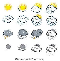 ikonok, állhatatos, időjárás