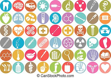 ikonok, állhatatos, orvosi