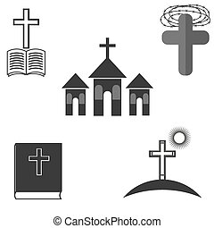 ikonok, állhatatos, vallás