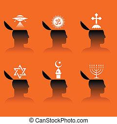 ikonok, emberi fő
