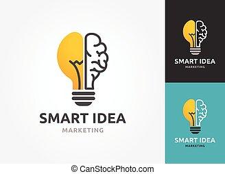 ikonok, fény, -, kreatív, gondolat, gumó, technológia