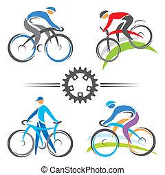 ikonok, kerékpározás