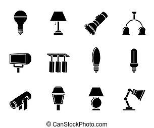 ikonok, láng felszerelés