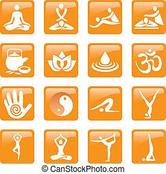 ikonok, masszázs, jóga, ásványvízforrás