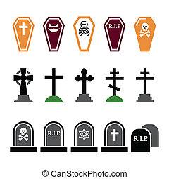 ikonok, mindenszentek napjának előestéje, színes, temető