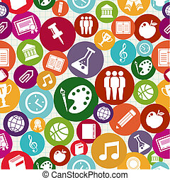 ikonok, seamless, hát, pattern., izbogis, oktatás