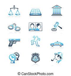 ikonok, sorozat, parancs, törvény, tengeri, |