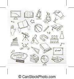 ikonok, tanulás, oktatás