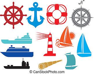 ikonok, tengeri, tengeri