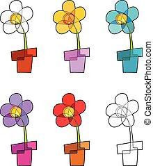 ikonok, virágcserép
