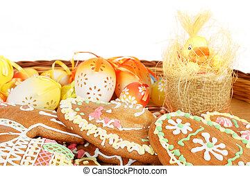 ikra, kenyér, húsvét, gyűjtés, vöröses sárga