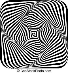 illúzió, forgás, dinamikus, film, örvénylik, movement., hatás, látási, csavarodás