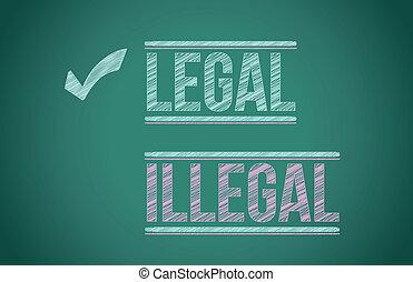 illegális, vs, jogi, ábra