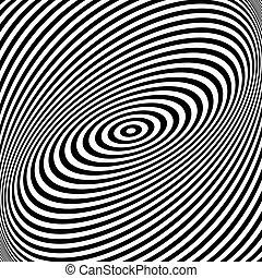 illusion., forgás, csavarodás, mozgalom