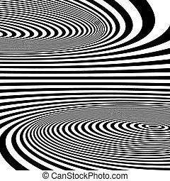 illusion., motívum, látási, elvont, háttér., örvény