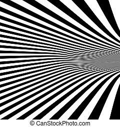 illusion., motívum, látási, fekete, háttér., fehér