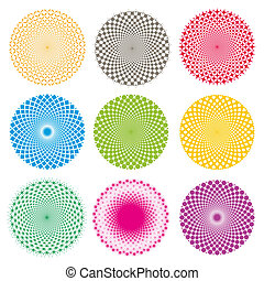 illusion-vector, látási, eps